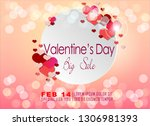 background of valentine's day.... | Shutterstock .eps vector #1306981393