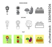 vector design of farm and... | Shutterstock .eps vector #1306988206