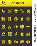 abstract icon set. 26 filled... | Shutterstock .eps vector #1306991209