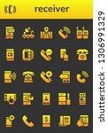 receiver icon set. 26 filled... | Shutterstock .eps vector #1306991329