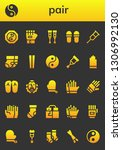 pair icon set. 26 filled pair... | Shutterstock .eps vector #1306992130