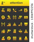 attention icon set. 26 filled...   Shutterstock .eps vector #1306992256
