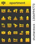 apartment icon set. 26 filled... | Shutterstock .eps vector #1306994773