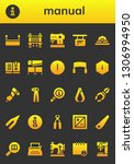 manual icon set. 26 filled... | Shutterstock .eps vector #1306994950