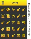 song icon set. 26 filled song... | Shutterstock .eps vector #1306995703