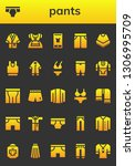 pants icon set. 26 filled pants ... | Shutterstock .eps vector #1306995709