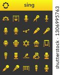 sing icon set. 26 filled sing... | Shutterstock .eps vector #1306995763