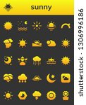 sunny icon set. 26 filled sunny ... | Shutterstock .eps vector #1306996186