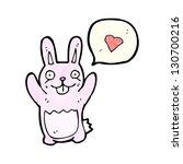 crazy rabbit cartoon | Shutterstock . vector #130700216