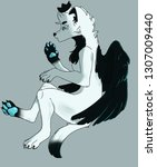 art furry wolf | Shutterstock . vector #1307009440