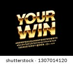vector elite golden label your... | Shutterstock .eps vector #1307014120
