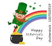 happy st. patrick's day... | Shutterstock .eps vector #1307020519