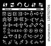 arrows   set   vector... | Shutterstock .eps vector #130702706