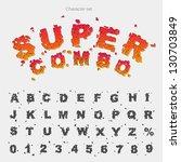 character grunge alphabet type... | Shutterstock .eps vector #130703849