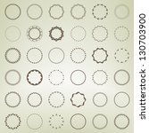 Set of round and circle ornament patterns as copyspace design eps10 vector element set collection