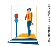 graphic vector illustration of...   Shutterstock .eps vector #1307057269
