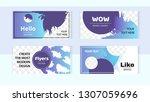 trendy editable set horizontal... | Shutterstock .eps vector #1307059696