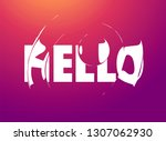 hello. banner  poster and... | Shutterstock .eps vector #1307062930