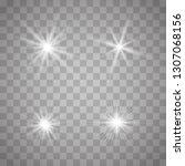 white glowing light explodes on ... | Shutterstock .eps vector #1307068156