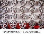 steel alloy car disks luxury... | Shutterstock . vector #1307069863