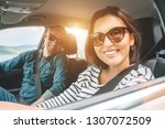 cheerful young traditional... | Shutterstock . vector #1307072509