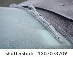 frost in the front window of... | Shutterstock . vector #1307073709