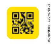 qr code icon vector. vector...   Shutterstock .eps vector #1307078506
