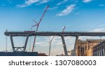 genova  genoa  italy   february ... | Shutterstock . vector #1307080003