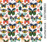 seamless  tileable wallpaper... | Shutterstock .eps vector #1307080033