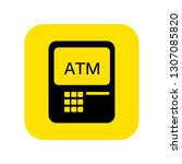 atm icon vector. vector... | Shutterstock .eps vector #1307085820