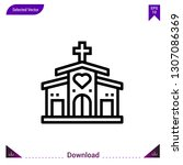 church vector icon. best modern ...