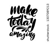 inspirational handwritten brush ... | Shutterstock .eps vector #1307089213
