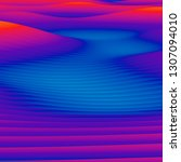 abstract colorful wavy... | Shutterstock . vector #1307094010