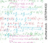 math seamless board with... | Shutterstock .eps vector #1307094433