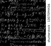 seamless math black board with... | Shutterstock .eps vector #1307094436