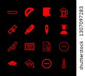 16 degree icons with graduate... | Shutterstock .eps vector #1307097283