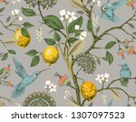 Floral Vector Seamless Pattern. ...