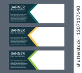 blue banner design. abstract... | Shutterstock .eps vector #1307117140