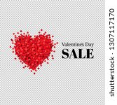valentines day sale banner with ... | Shutterstock .eps vector #1307117170