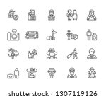 set of tourist related vector... | Shutterstock .eps vector #1307119126