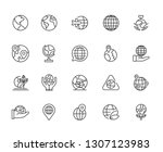 Set of world Related Vector Line Icons. Includes such Icons as earth, planet, ocean, globe, continents, travels, geography, parts of the world and more. - vector