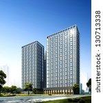 buildings made in 3d | Shutterstock . vector #130713338