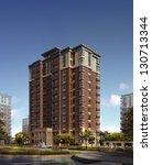 buildings made in 3d   Shutterstock . vector #130713344