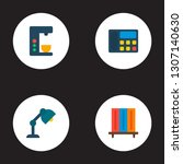 set of office icons flat style... | Shutterstock .eps vector #1307140630