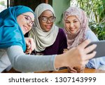 people having fun and working   | Shutterstock . vector #1307143999