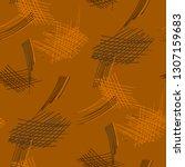 various hatches. seamless... | Shutterstock .eps vector #1307159683