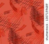 various hatches. seamless... | Shutterstock .eps vector #1307159689