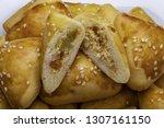 brazilian snack. meat esfiha | Shutterstock . vector #1307161150