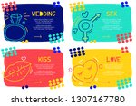 set abstract landing page... | Shutterstock .eps vector #1307167780