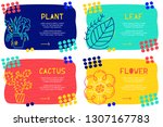 set abstract landing page... | Shutterstock .eps vector #1307167783